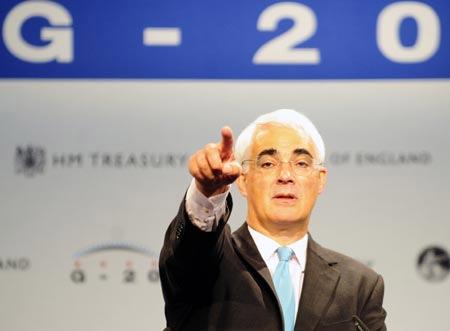 Хозяин Саммита министров финансов G20 в Лондоне - канцлер Казначейства (Chancellor of the Exchequer) Великобритании Алистер Дарлинг, Alistair Maclean Darling