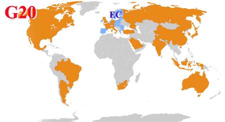 Страны-члены G20, Группы двадцати; Group of Twenty Finance Ministers and Central Bank Governors