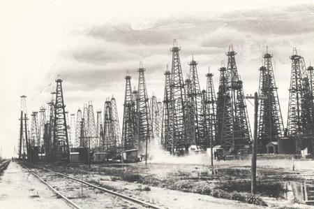 Добыча нефти в США. Нефтяные вышки в Техасе, 1901 год, рождение современной нефтяной промышленности США